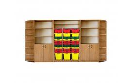 Новая украинская школа: купить Шкаф для хранения дидактического материала с лотками Бук -
