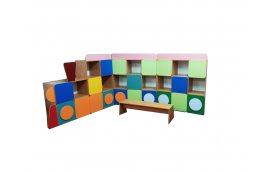 Мебель для детского сада: купить Стенка детская Паровозик -