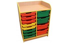 Школьная мебель: купить Тумба под лотки открытая №2