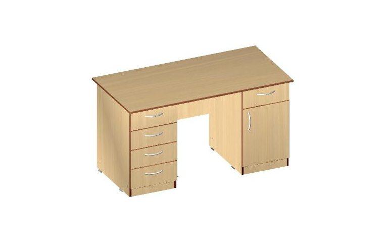Письменные столы: купить Стол двухтумбовый СД-01 (ДСП кальвадос) - 1