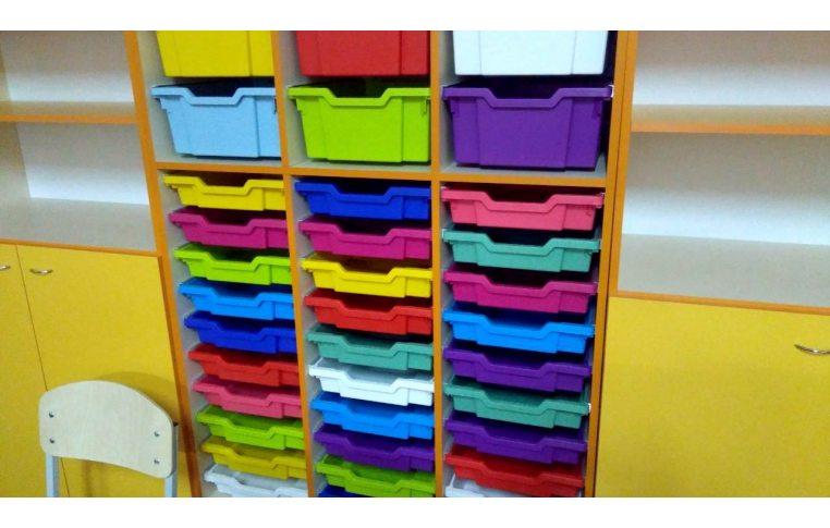 Школьные шкафы: купить Шкаф для хранения дидактического материала с лотками - 2