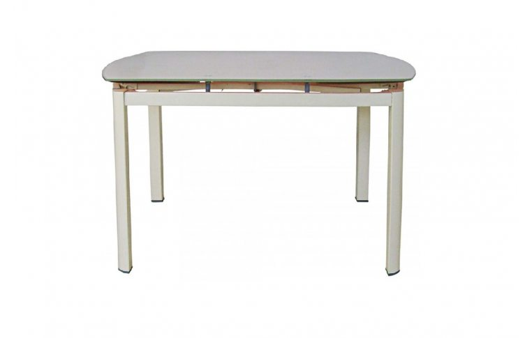 Кухонные столы: купить Раскладной стеклянный стол Коралл бежевый - 2
