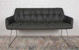 Кресло-банкетка Leon dark grey (Леон темно-серый)