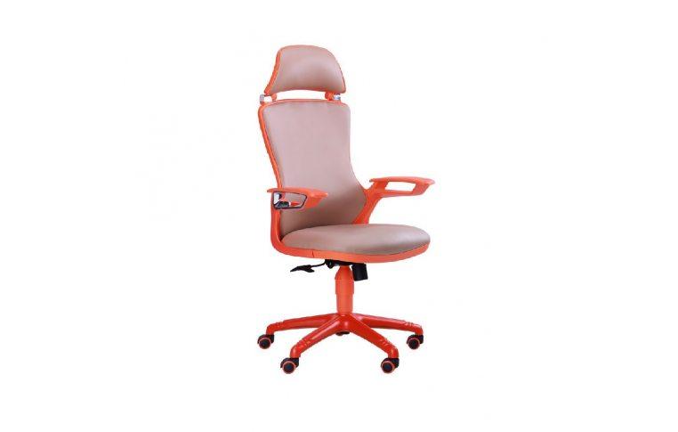 Офисные кресла: купить Кресло Boomer к/з хаки, каркас оранжевый - 1