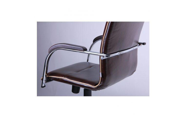Офисные кресла: купить Кресло Самба-RC Хром орех Мадрас дарк браун с кантом Мадрас голд беж AMF - 6