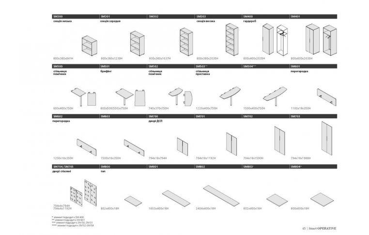 Офисная мебель: купить Серия мебели Smart - 12