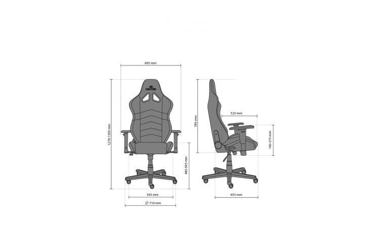 Геймерские кресла: купить Кресло для геймеров Hexter rc r4d Tilt mb70 Eco/01 Black/Blue - 17