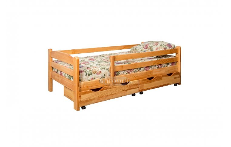 Деревянные кровати: купить Кровать с защитными бортами Зорянка-2 - 1